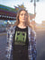 I'm Always Green Meeple Board Game T-Shirt Action Shot Women's