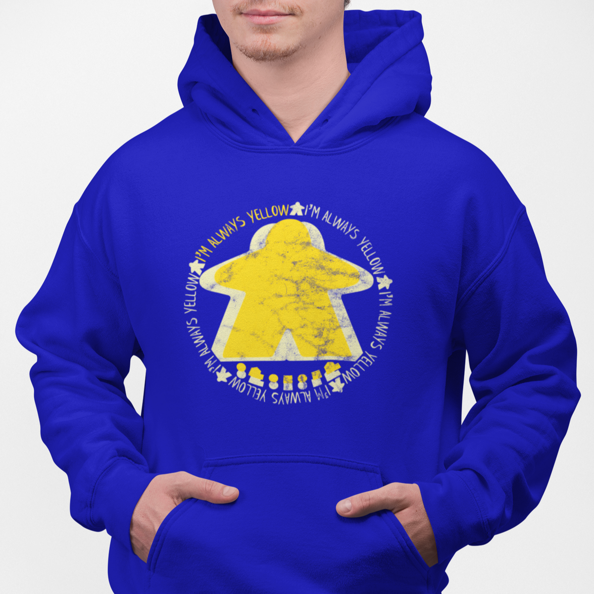 I'm Always Yellow Meeple Board Game Pullover Hoodie