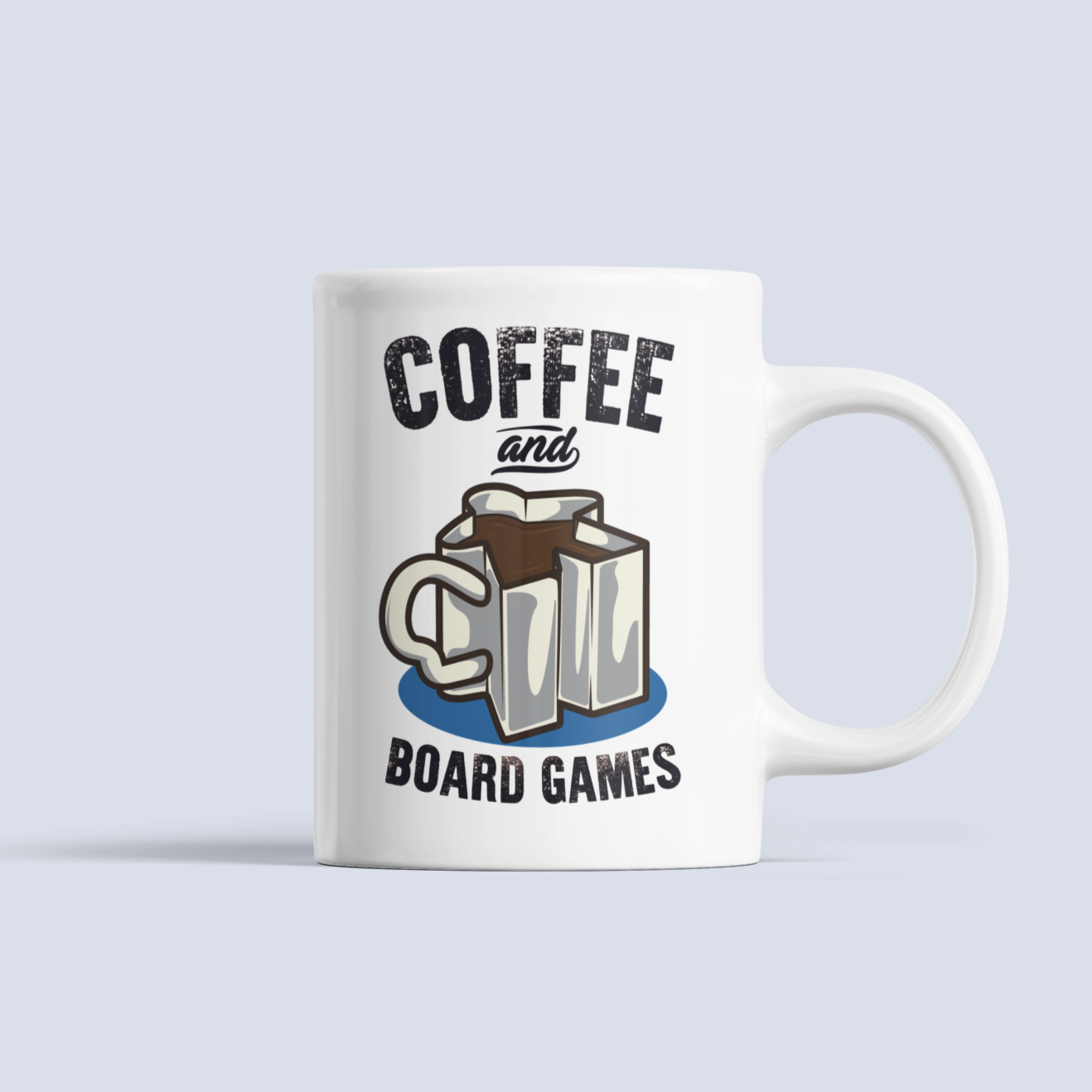 Coffee and Board Games Ceramic Mug