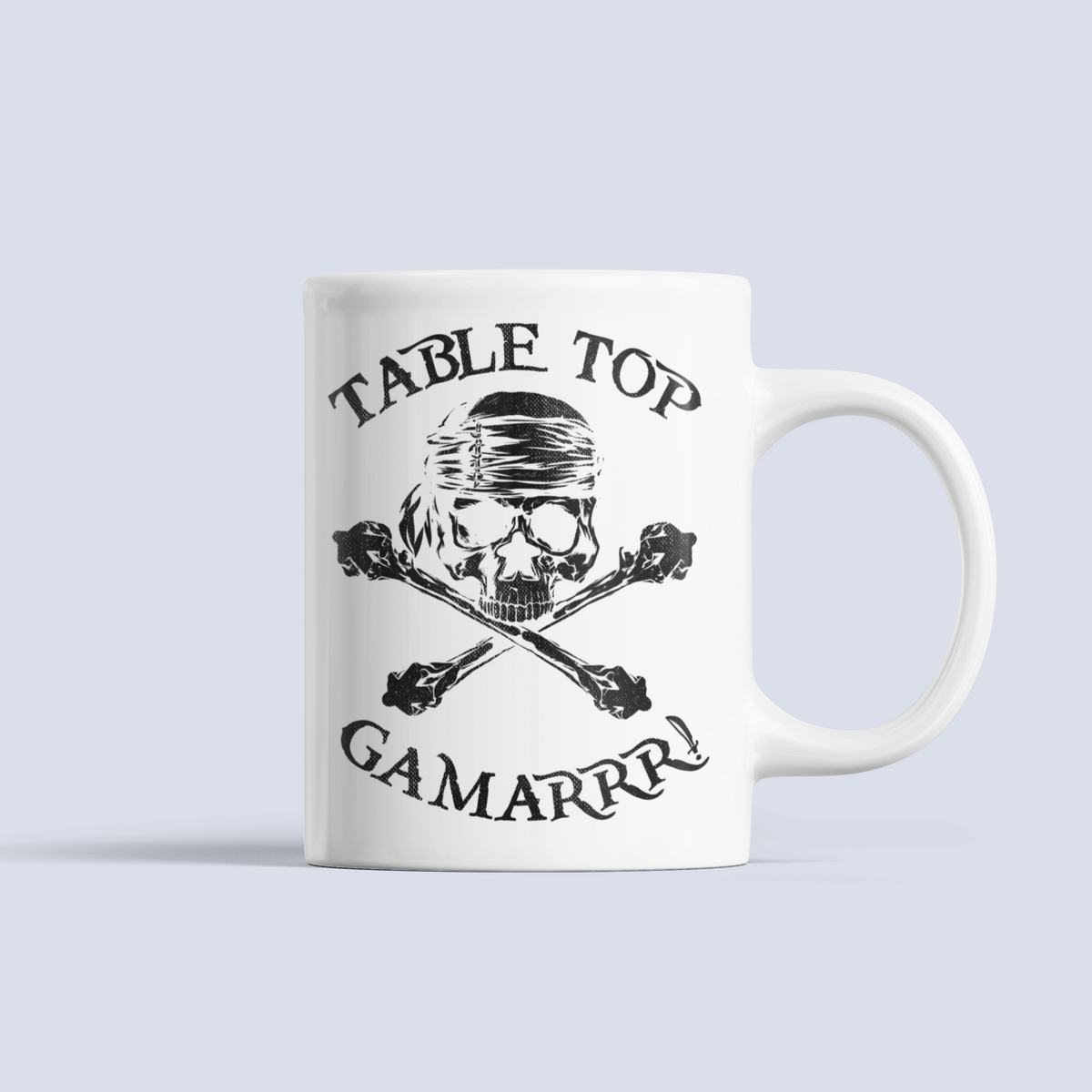Meeple Crossbones Table Top Gamarrr Boardgame Ceramic 15oz Mug