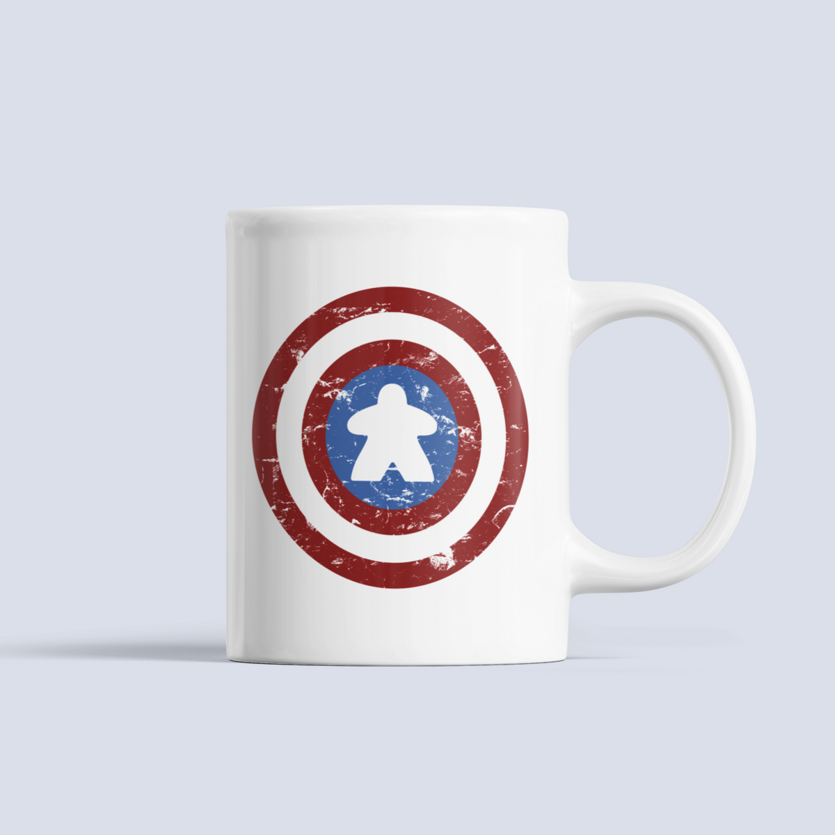 Captain Meeple Shield Board Game Ceramic 15oz Mug