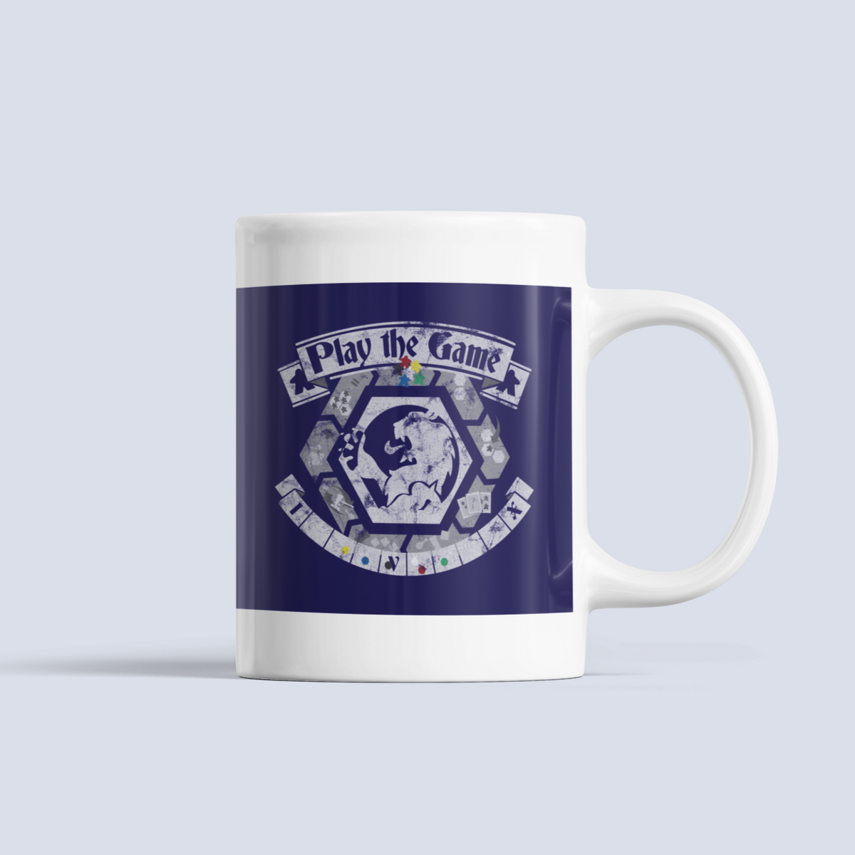 Play the Game Board Game Ceramic 15oz Mug