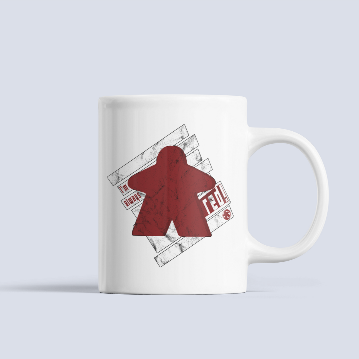 Red Meeple Board Game Ceramic Mug