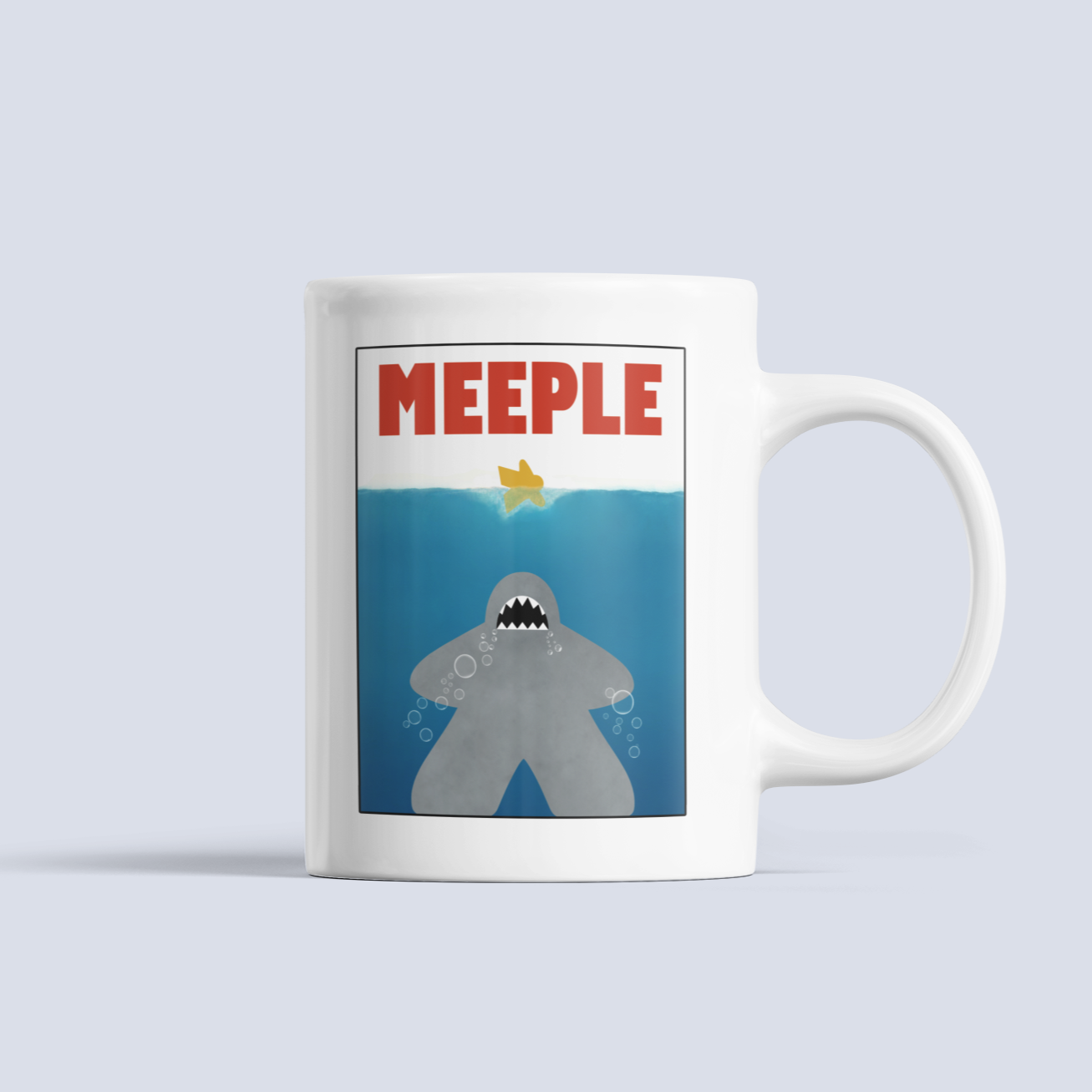 Meeple Shark Attack Ceramic Mug