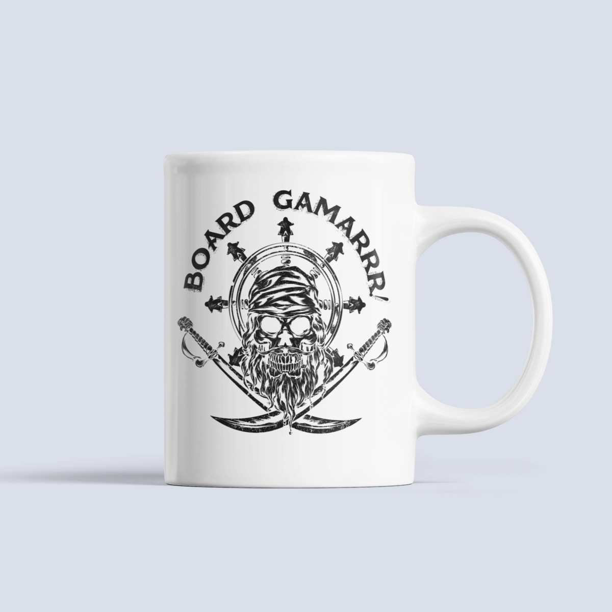 Captain Meeple Board Gamarrr Ceramic Mug