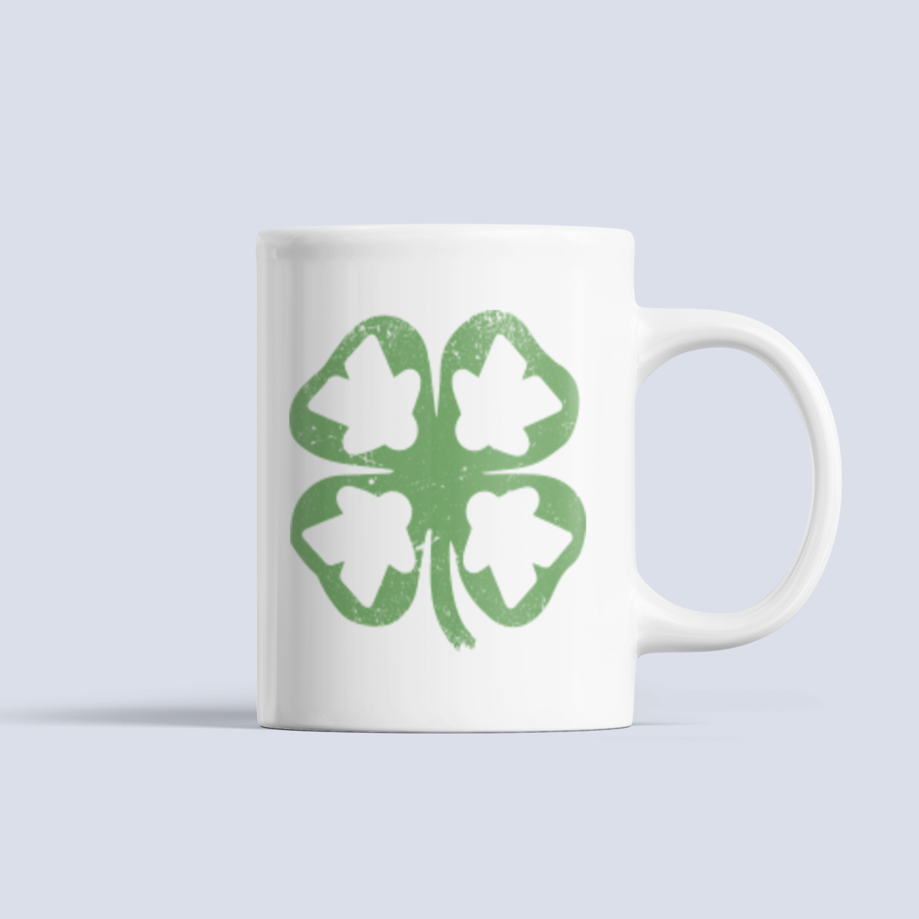 Meeple Leaf Clover Boardgame Ceramic Mug