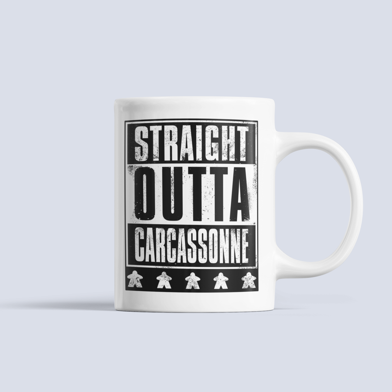 Straight OUTTA Carcassonne Board Game Ceramic Mug
