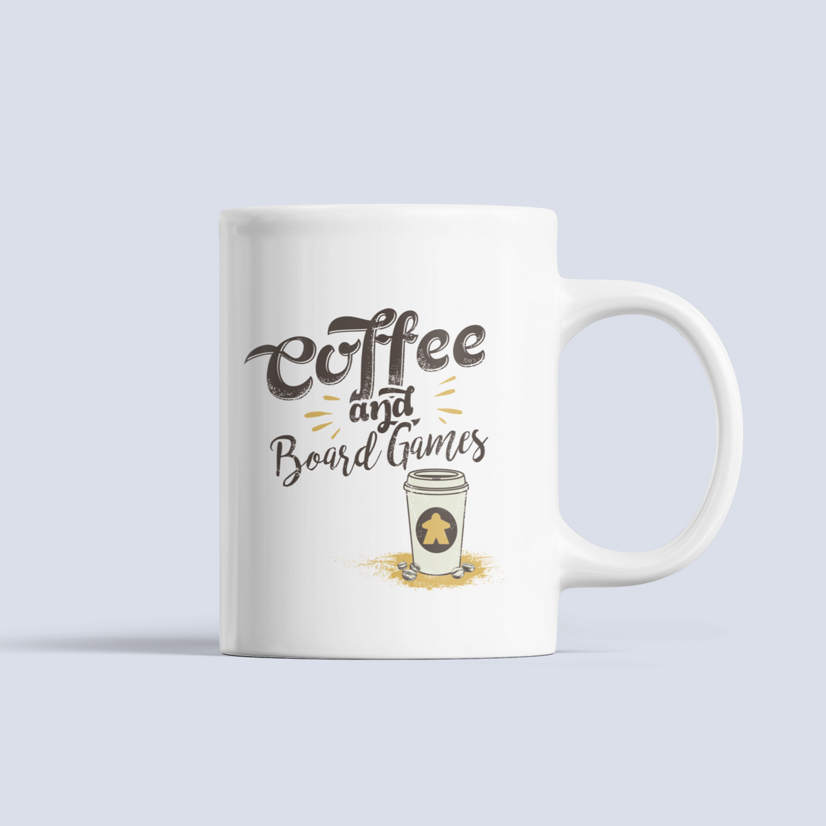 coffee to go and board games ceramic mug