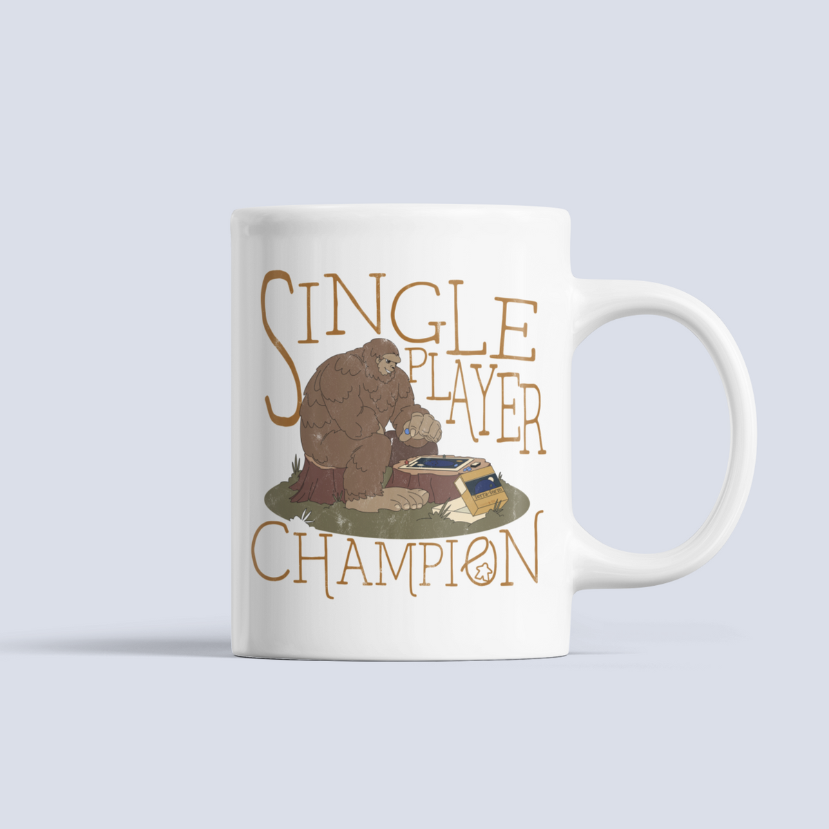 Single Player Board Game Champion Ceramic Mug