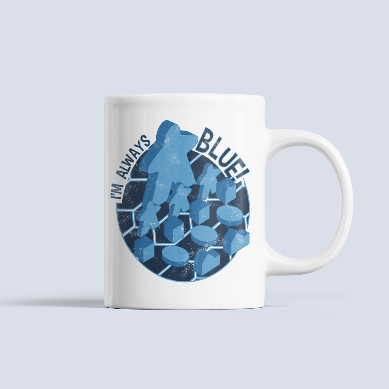 Blue Meeple Board Game Ceramic Mug