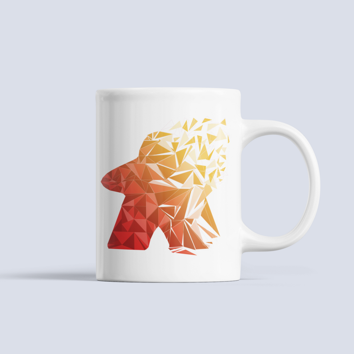 Warm Fragmented Meeple Board Game Ceramic Mug