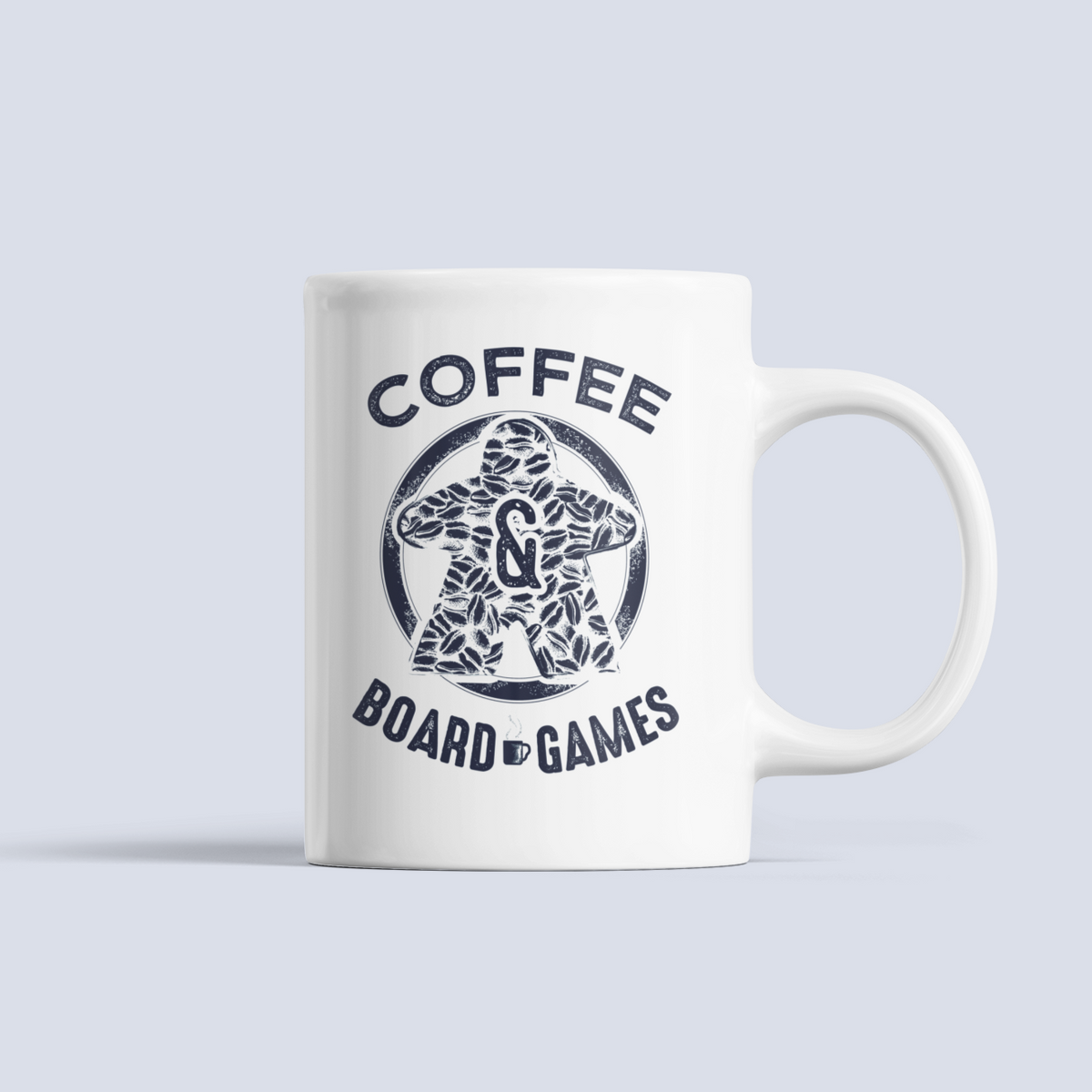 Coffee Bean Meeple Board Game Ceramic Mug