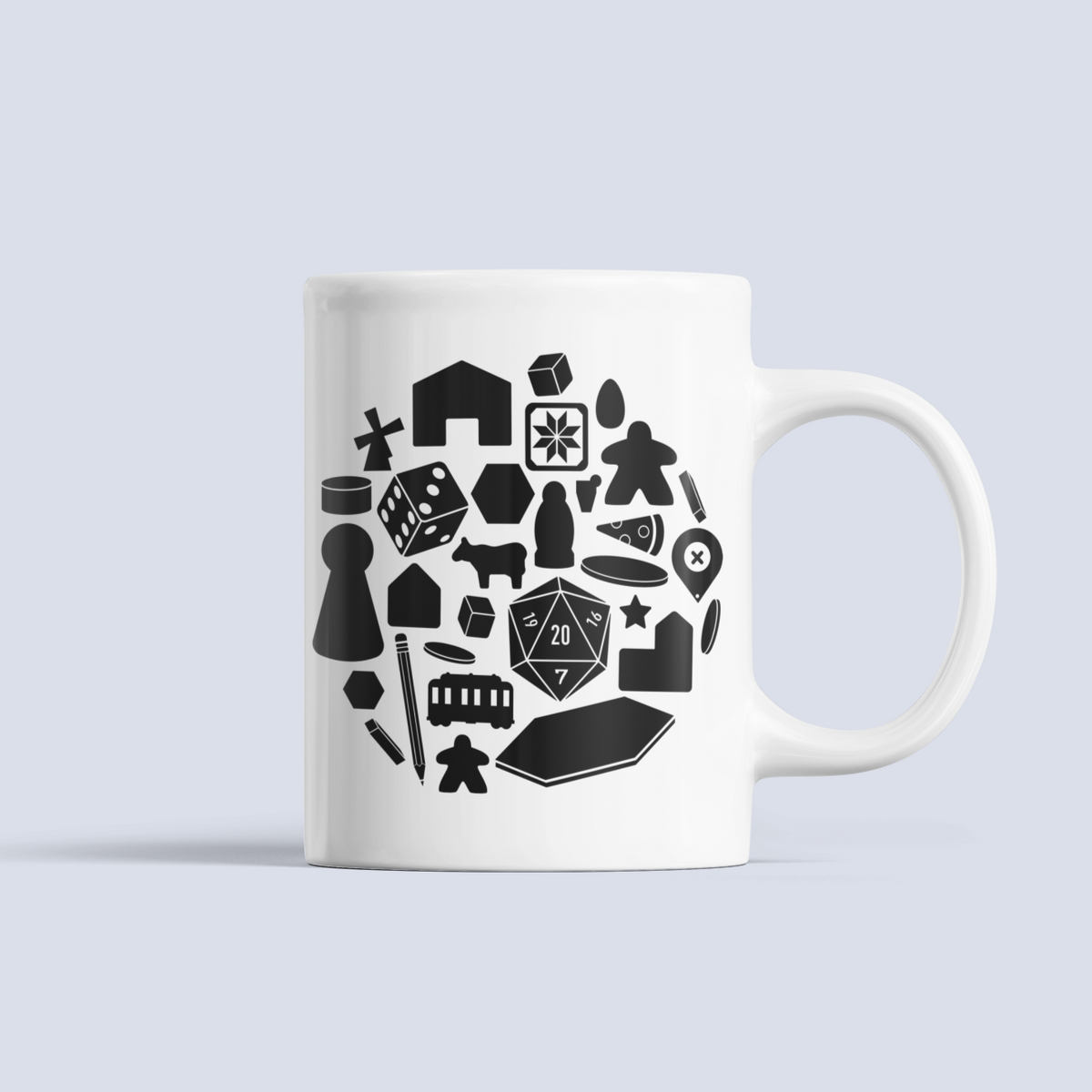 Board Game Pieces Ceramic Mug