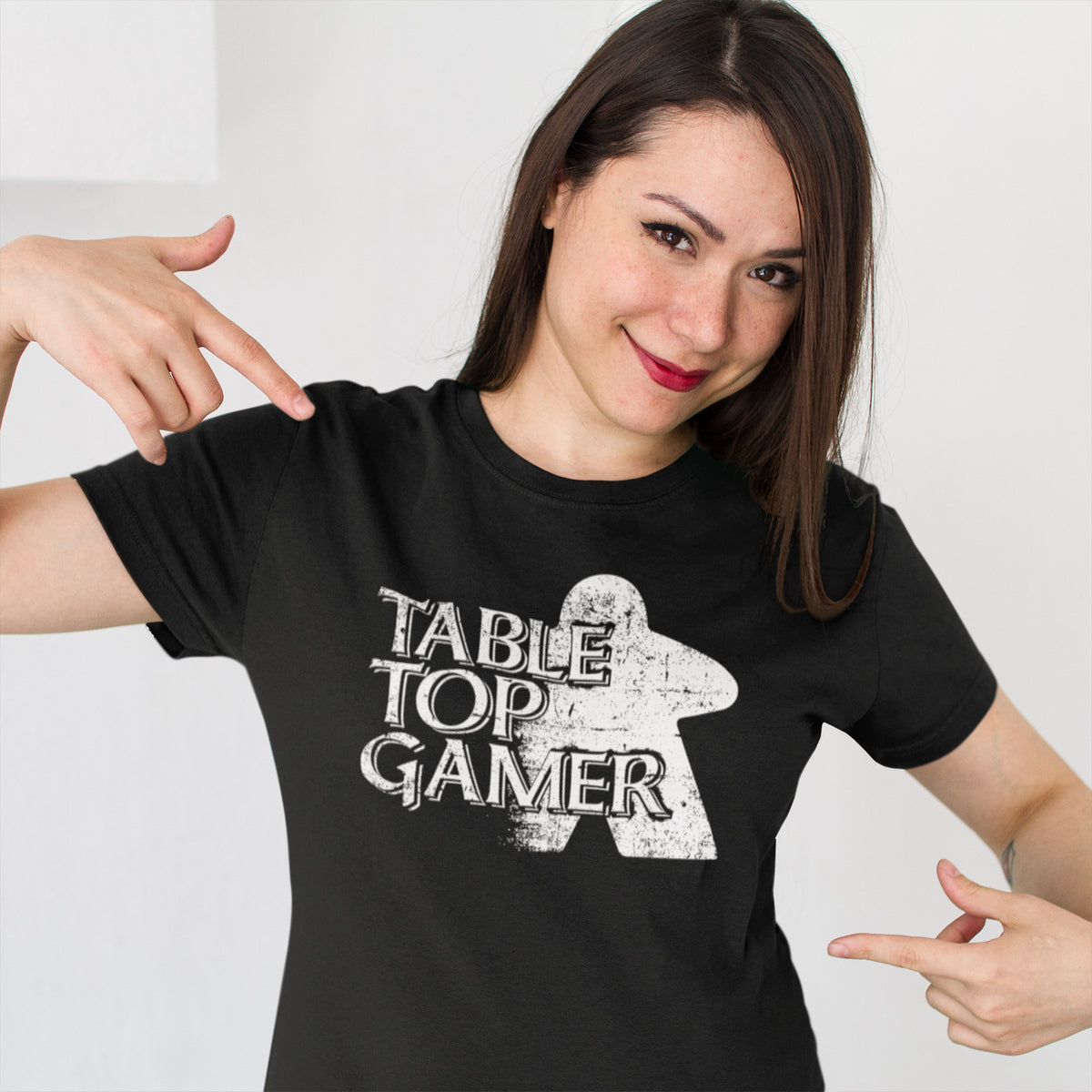 Table Top Gamer Board Game T-Shirt Action Shot Women's