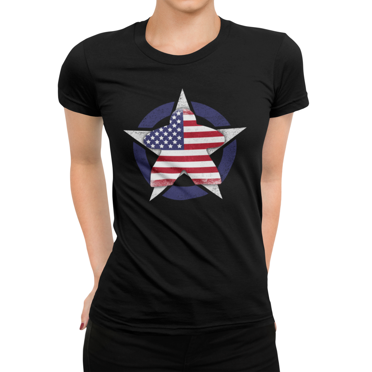 American Flag Meeple Board Game T-Shirt