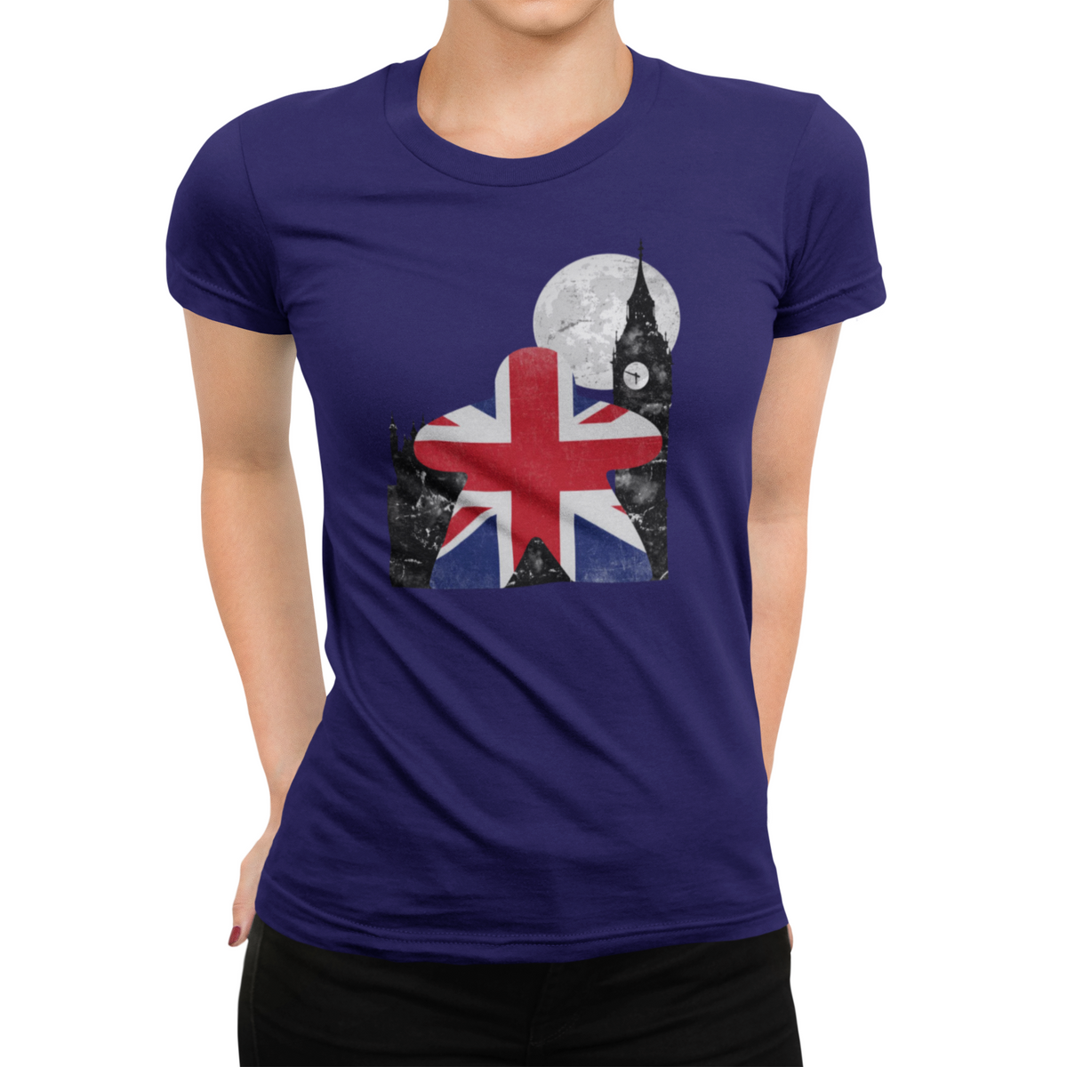 Union Jack British Flag Meeple Board Game T-Shirt