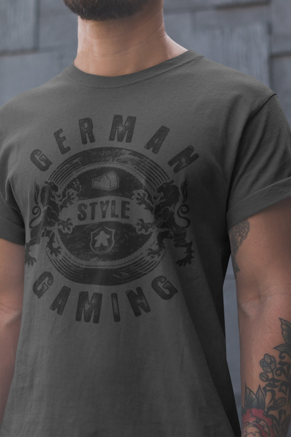 German Style Board Gaming T-Shirt Action Shot Men's