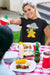 The Mighty Meeple: God of Thunder Board Game T-Shirt Action Shot Women's