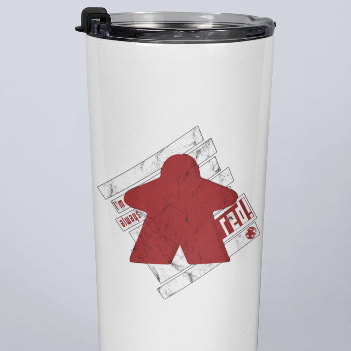 I'm Always Red Meeple Board Game 20oz Travel Mug