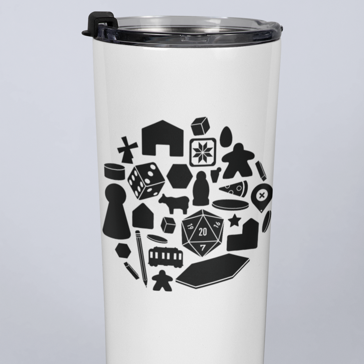 Board Game Pieces 20oz Travel Mug