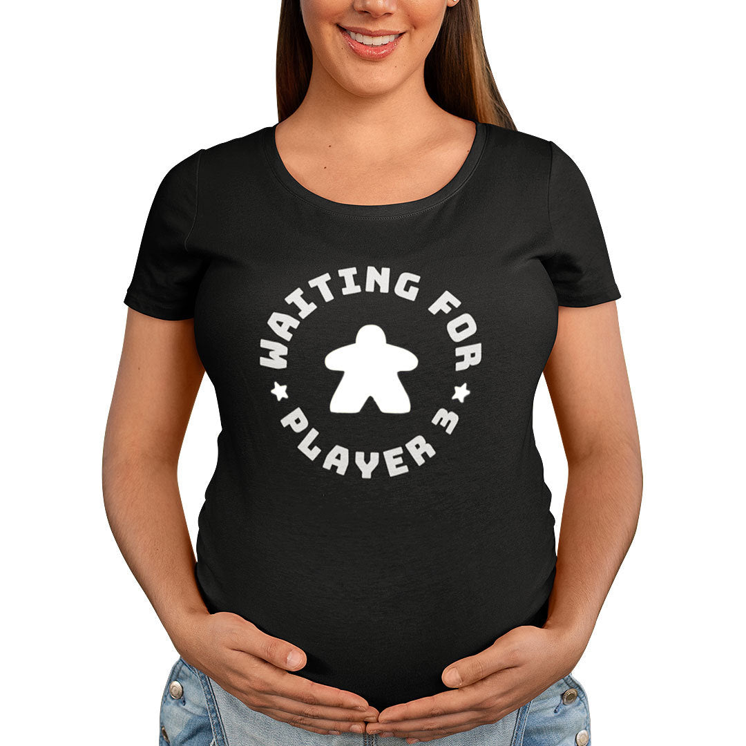 Waiting For Player 3 Maternity T-Shirt White