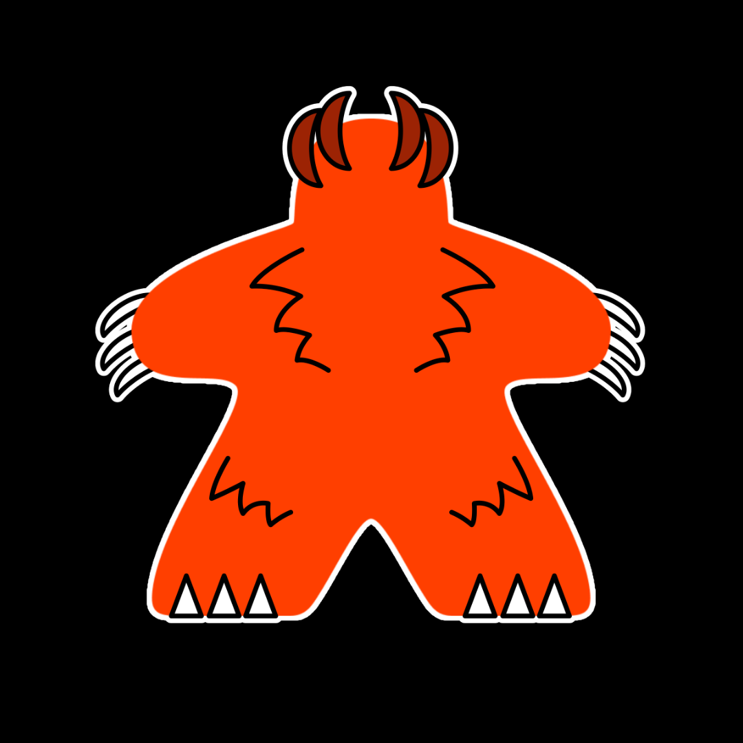 Orange Meeple Halloween Wolfman T-Shirt