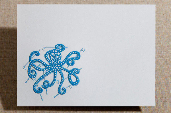 Flat Cards - Octopus with Golf Clubs