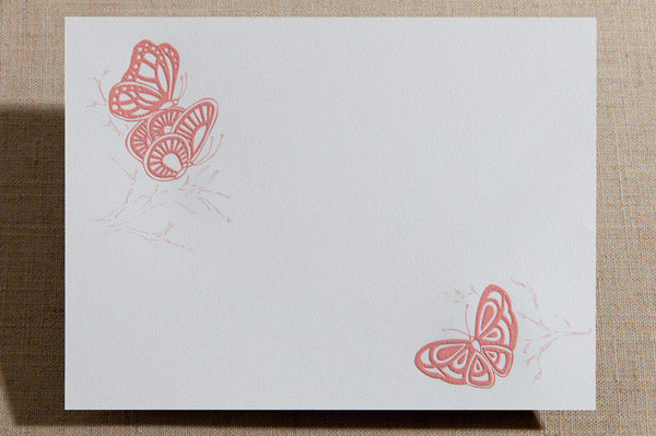 Flat Cards - Butterflies on Branches