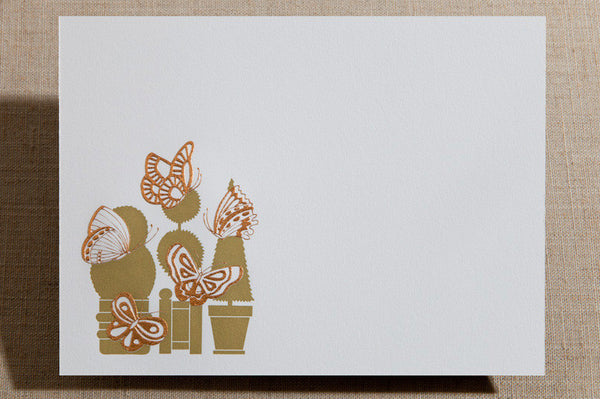 Flat Cards - Topiary with Butterflies