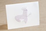Folded Cards - Sea Lion with Crown and Scepter