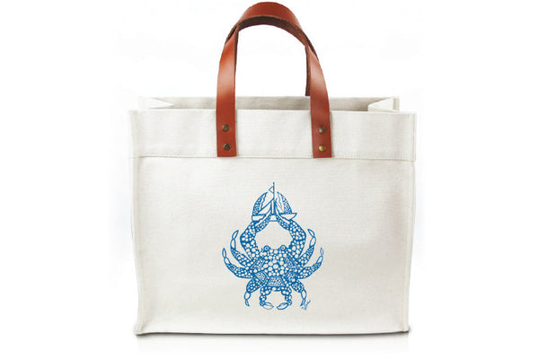 Tote Bag - Crab with Sailboat