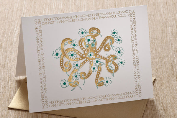 Folded Cards - Thank You Octopus