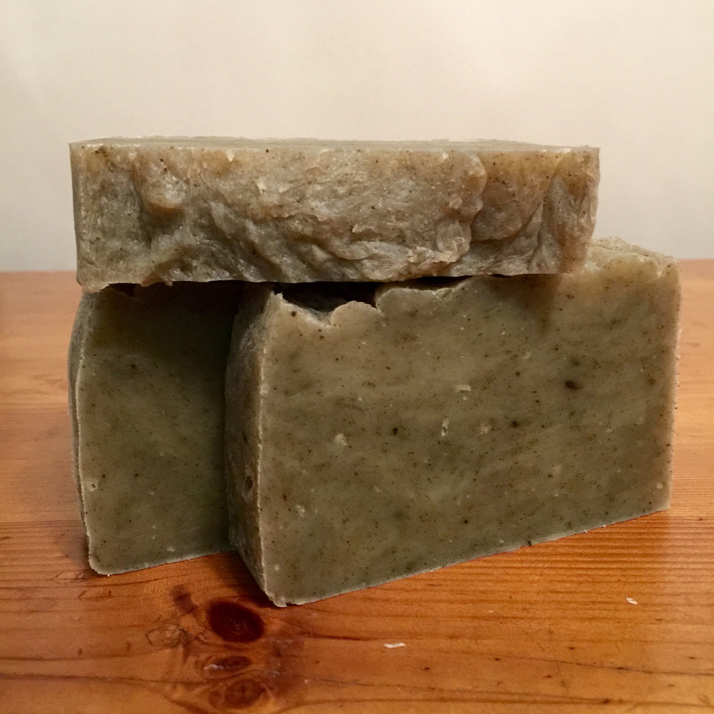Doggie Shampoo Bar-on the curing rack