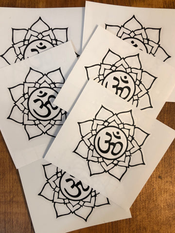 Lotus Flower Om Sticker