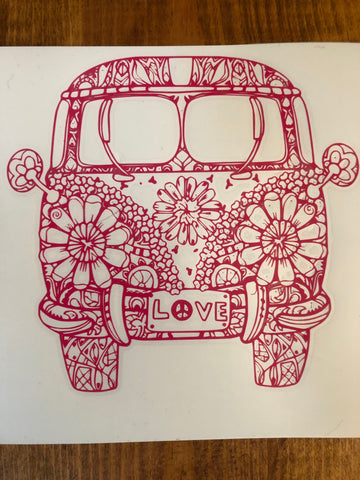 VW Mandala Bus Sticker