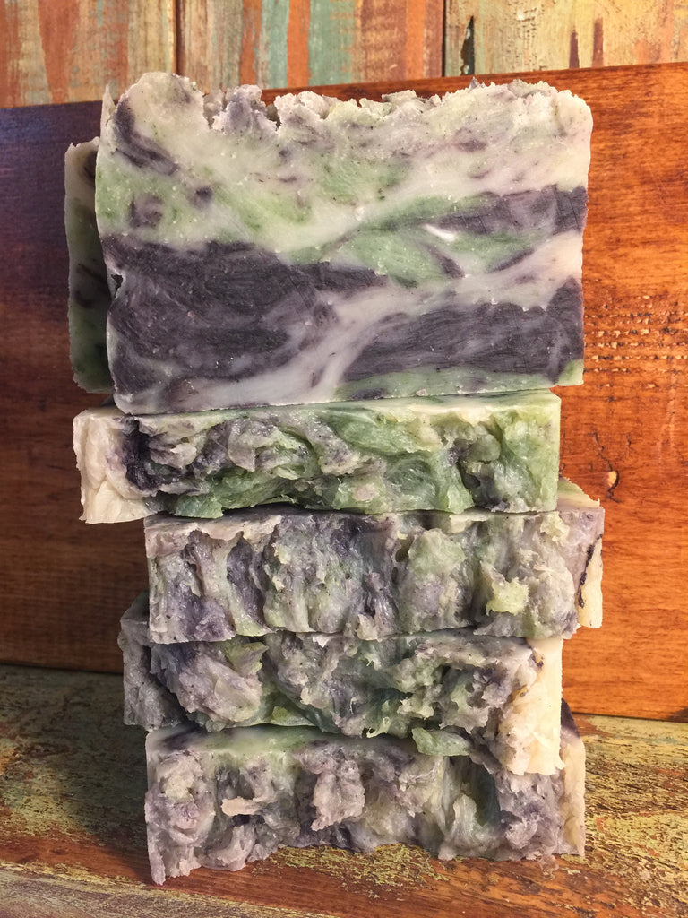 Flower Child Soap, made with lavender and patchouli essential oil
