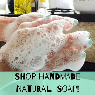 natural soap lather