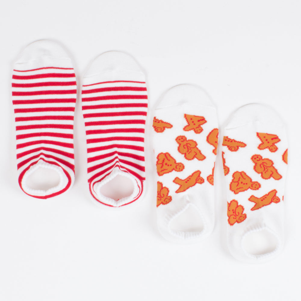 Ankle Sock Set - Gingerbread/Stripe