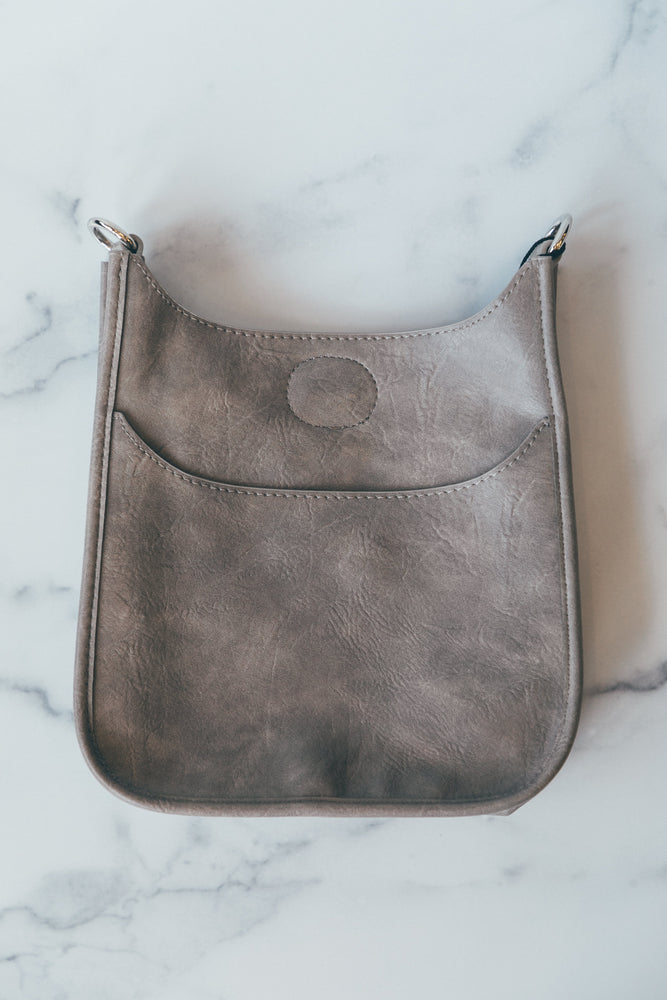 Mini Messenger without Strap in Light Grey