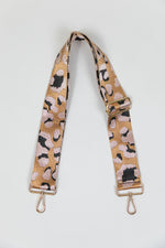 Adjustable Bag Strap - Blush/Leopard Animal Print