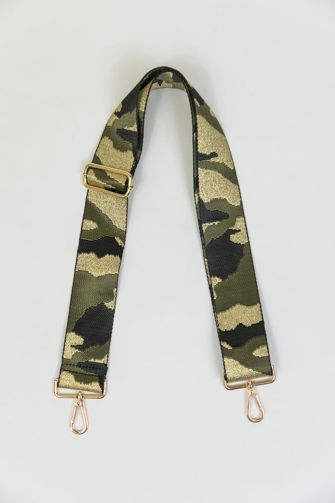 Adjustable Bag Strap - Black/Army Gold Camo