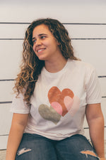All My Heart Tee - Faded Blush