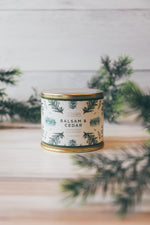 Balsam & Cedar Large Tin Candle