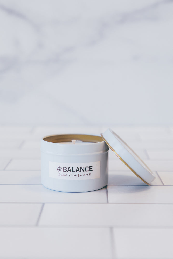 Species By The Thousands 4oz Crystal Travel Candle in Balance