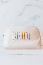 Bride Cosmetic Pouch in Champagne