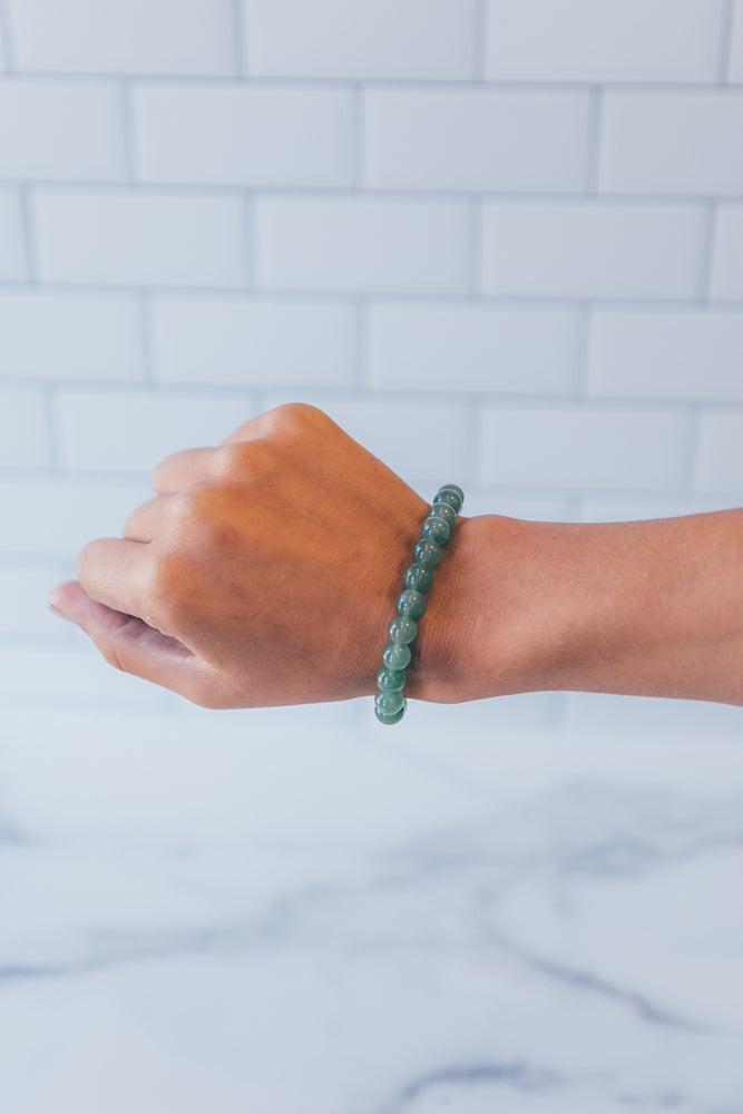 Natural Bead Bracelet - Green Aventurine