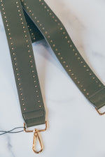 Faux Leather Bag Strap -  Army