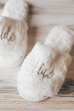 Bride Slippers - Ivory