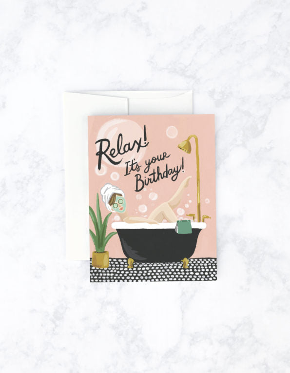 Idlewild Co. Bubble Bath Card
