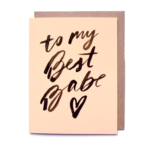 Best Babe Card